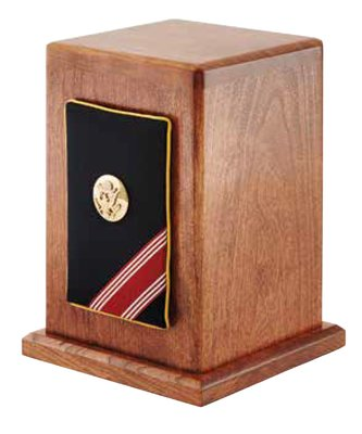 Army Military Panel Urn
